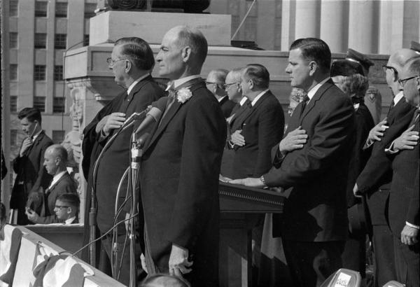 Inauguration of Governor Paul B. Johnson Jr., January 21, 1964. Moncrief Photograph Collection. Call Number: PI/1994.0005, item 106 (MDAH Collection)