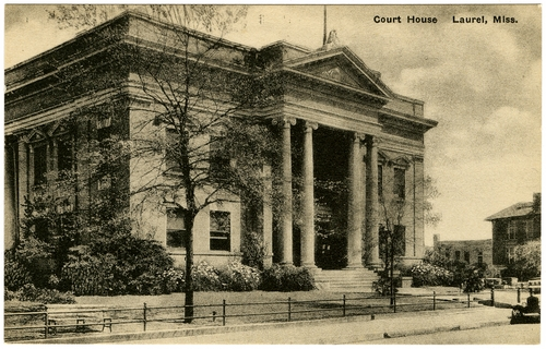 """Courthouse, Laurel, MS"" Call Number: PI/2004.0025 (MDAH Collection)"